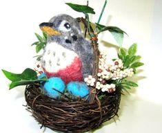 Needle Felting Tutorial – Nesting Bird Pincushion by Patty Gibson | LIVING FELT Blog!