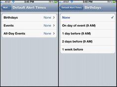 default alerts