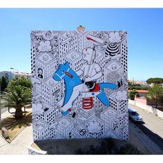 Millo - Italian Street Artist - Cascais (P) - 07/2015 - |\*/| #millo #streetart