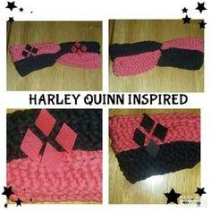 Harley Quinn Inspired Crochet headband
