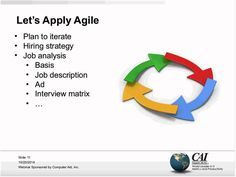 """Agile Hiring - It's a Team Sport  www.itmpi.org/subscribe  In this webinar Johanna Rothman, author of """"Hiring Geeks Who Fit"""", will discuss how to enable teams to make proper hiring decisions via resume reviews and interviews."""