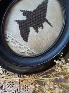 Vintage Witch - Cross Stitch Pattern by The Little Stitcher
