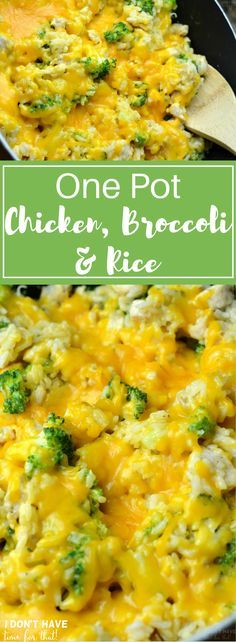 This One Pot Chicken, Broccoli, & Rice is the perfect solution for a busy week night dinner! Save time and sanity with only one dish to wash from this delicious dinner your family will be begging to h(Chicken And Rice Casserole Recipes) Quick Easy Meals, Easy Dinner Recipes, Cheap Easy Dinners, Easy Dinners For Kids, Chicken Broccoli Rice Casserole, Broccoli Chicken, Broccoli And Rice, Table D Hote, One Pot Chicken