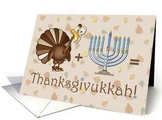 Turkey, Menorah, Thanksgivukkah Greeting cards