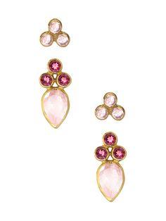 1365d3b3f Imanita Pink Multi Stud Earring Ear Jacket, Jewelry Ideas, Stud Earrings,  Jewelry Necklaces