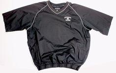 mens FOOTJOY V neck golf L/S shirt jacket black windbreaker XL STORM CLUB EUC #footjoy #ShirtsTops