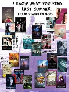 Dear Diary, my teen angst has a book count...and a blog. I Know What You Read Last Summer poster featuring summer 2012 Y.A. releases #library displays