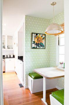 Kitchen Nook - contemporary - kitchen - san francisco - Cristin Priest {Simplified Bee}    Trellis Manuel Canovas