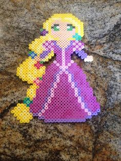 Rapunzel from Disney's Tangled Perler Beads by KcranceArt: