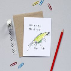 'Sorry I Got Mad At You' Card