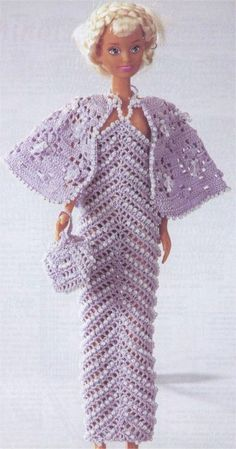 Light beaded dress for Barbie's bridesmaids ♥LCD♥ with diagrams