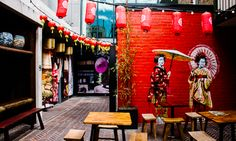 Spice Alley in Sydney, a series of authentic Asian food stalls. #food #travel #Australia