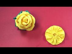 ROSA  de TECIDO - FLOR com FUXICO PASSO a PASSO - DIY - YouTube