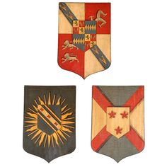 A SET OF THREE ARMORIAL SHIELDS