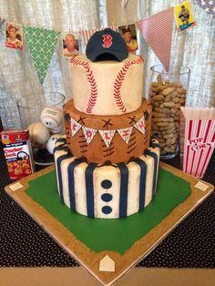 Vintage Baseball Themed Baby Shower Cake on Cake Central