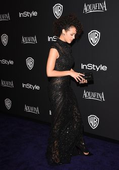 Nathalie Emmanuel Photos Photos - Actress Nathalie Emmanuel attends the 2015 InStyle And Warner Bros. 72nd Annual Golden Globe Awards Post-Party at The Beverly Hilton Hotel on January 11, 2015 in Beverly Hills, California. - InStyle And Warner Bros. Golden Globes Party — Part 2