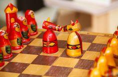 Vintage original chess set from Soviet Union-Ukraine, Lugansk(Schachspiel aus der Sowjetunion) - Made in USSR. RARITÄT! von SovietGallery auf Etsy