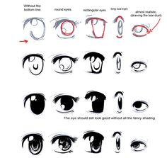 How To Drawing Doodles | How to draw manga eyes