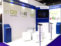 Custom build exhibition stand for Hay Group, 2013. Minimum space maximum impact  www.mustardsolutions.co.uk