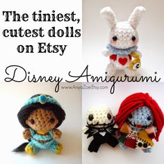 Disney Amigurumi: 22 Tiny Adorable #Disney Dolls on Etsy via @Disney Sisters