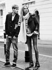 Day Out – Another day, another campaign for British beauty Cara Delevingne. The blonde stars in the fall 2013 campaign from UK-based denim label, Pepe Jeans. Cara looks casual chic as she models the brand's autumn knits, cat-eye shaped sunglasses and laid-back denim. The advertisements where shot by Josh Olins and styled by Clare Richardson. …