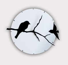 Hey, I found this really awesome Etsy listing at http://www.etsy.com/listing/96069688/birds-on-tree-shadows-wall-clock
