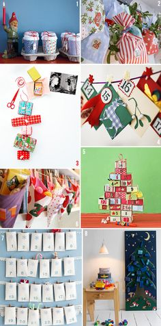 Advent calender ideas, but good for small bits storage