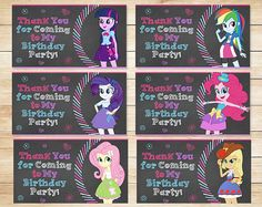 Equestria Girls My Little Pony Birthday Goody by ApothecaryTables