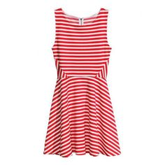 Striped Splicing Scoop Collar Sleeveless Slimming Stylish Women's Sundress, RED, M in Dresses 2014   DressLily.com