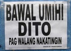 No peeing here when no one is looking. Filipino Memes, Filipino Funny, Funny Signs, Funny Memes, Jokes, Funny Photo Captions, Funny Photos, Funny Instagram Pictures, Chistes
