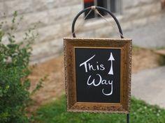 Wedding Ceremony Sign: Photo by Midwest LifeShots Photography via Heather Renee Celebrations