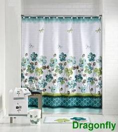 After looking at hundreds of shower curtains on dozens of sites, this is the onl one I even kinda liked... And I love it!!! The colors make me happy!!! Mainstays Dragonfly Shower Curtain and Hook Set - Walmart.com