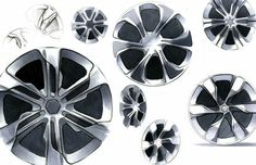 Hot Sketches All The Sketches Car Design Sketch Industrial Automotive Rims, Automotive Design, Car Design Sketch, Car Sketch, Mustang Wheels, Rims For Cars, Wheels For Sale, Industrial Design Sketch, Truck Wheels