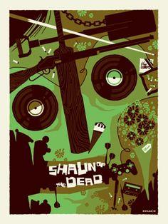 Version B - Retro Poster Illustration Design Shaun of the Dead by Tom Whalen Tom Whalen, Horror Movie Posters, Movie Poster Art, Horror Movies, Film Posters, Art And Illustration, Illustrations Posters, Jasper Johns, Roy Lichtenstein