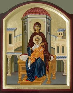 This project includes pictures of the most esteemed saints in orthodox religion, made in traditional technique - wood panels, gold leaf cover and pigments. Byzantine Icons, Byzantine Art, Religious Icons, Religious Art, Madonna, Life Of Christ, Russian Icons, Blessed Mother Mary, Best Icons