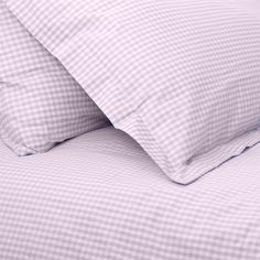 Babyface childrens bedding- Lilac Gingham Single Duvet Set, also available in cotbed/ junior size.