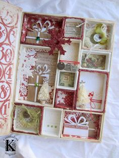Sizzix Tutorial | Holiday Configurations Box by Vivian Keh