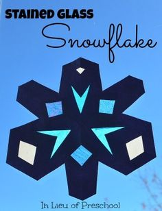 construction and tissue paper snowflakes for your windows!  Love these!
