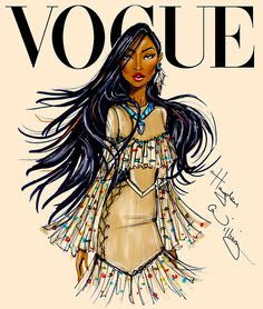 Disney Divas for Vogue by Hayden Williams: Pocahontas ❥|Mz. Manerz: Being well dressed is a beautiful form of confidence, happiness & politeness