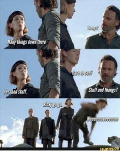 The Walking Dead What did I just read?  #lol #twd #stuff #thangs