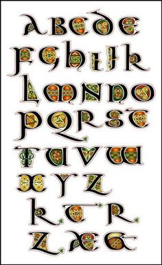 The Aon Celtic Art website features the artistic works of international artist Cari Buziak, including a gallery of works, free tutorials and clipart. Celtic Fonts, Celtic Art, Celtic Dragon, Illuminated Letters, Illuminated Manuscript, Lettering Styles, Hand Lettering, Lettering Tutorial, Celtic Alphabet