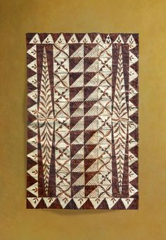 Tongan Ngatu (Tapa cloths) - Tapa Cloths from The Pacific and Artwork Hawaiian Decor, Hawaiian Tribal, Hawaiian Art, Tribal Patterns, Vintage Patterns, Tribal Designs, African Mud Cloth, African Fabric, Tongan Tattoo