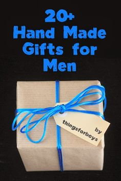 Finally a good list of man gifts! 20 Handmade Gift Ideas for Men by www.thingsforboys.com Great Idea for Grandpa (stamped handkerchief)!