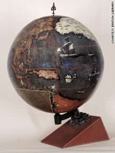 This is the oldest terrestrial globe known to be made in China. It dates to 1623.