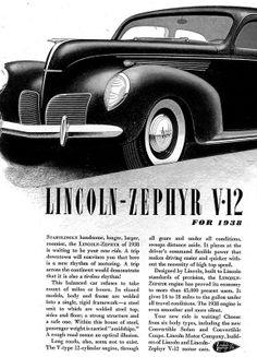 1938 Lincoln Zephyr V-12