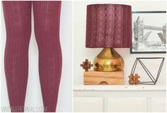 Turn Leggings Into A Lampshade! - Vintage Revivals