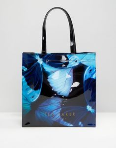 Image 1 of Ted Baker Butterfly Print Large Icon Bag