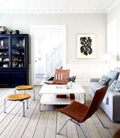 Move Over, All-White—This New Dècor Trend Has the Scandinavian Stamp of Approval Living Room Furniture, Home Furniture, Living Room Decor, Dining Room, Industrial Furniture, Living Spaces, Scandinavian Home Interiors, Scandinavian Design, Move Over