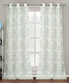 Sage Rivietta Curtain Panel - Set of Two #zulily #zulilyfinds