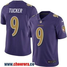 Men's Baltimore Ravens #9 Justin Tucker Purple 2016 Color Rush Stitched NFL Nike Limited Jersey